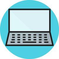 Ícone preenchido de linha de laptop vetor