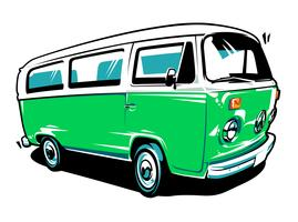 Arte vetorial de carro hippie