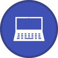 Laptop preenchido ícone de fundo multi cor vetor