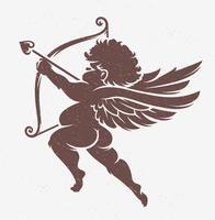 Silhueta de Cupido de vetor