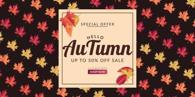 projeto de modelo de fundo de venda de outono vetor