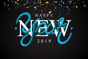 Feliz ano novo, ilustração