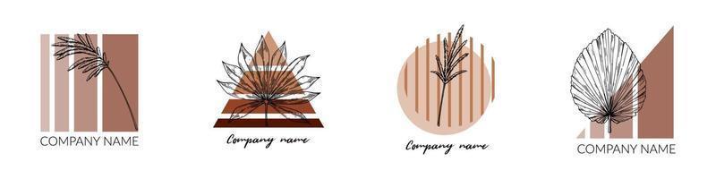 conjunto de logotipos modernos contemporâneos vetor
