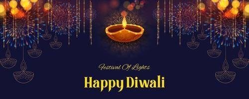 feliz feriado diwali fundo para o festival da luz da Índia vetor