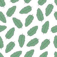 padrão floral sem costura de folha simples vetor
