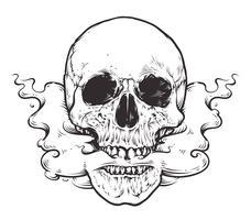 Arte do crânio de fumar vetor