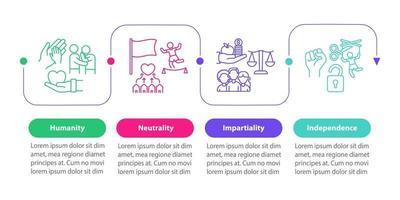 modelo de infográfico de vetor de ajuda humanitária.