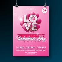 Projeto de panfleto de festa de dia dos namorados