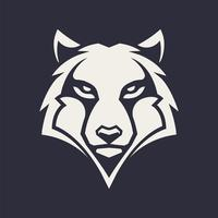 Ícone de vetor de mascote de lobo