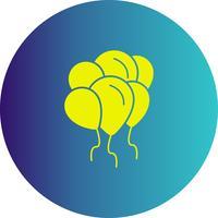 ícone de balões de vetor