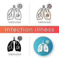ícone de vetor de tuberculose