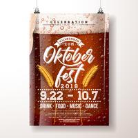 Ilustração de cartaz de festa Oktoberfest.