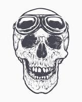 Arte do piloto do crânio
