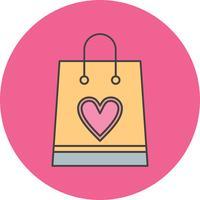 ícone de sacola de compras de vetor