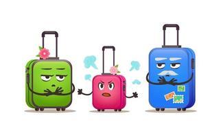 malas de grupo familiar. cartoon vector conjunto colorido