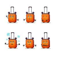 mala para menino. pacote de emoção de bagagem de desenho vetorial para adesivos vetor
