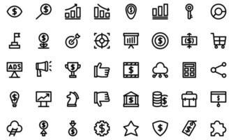 ícone de crescimento de marketing definir estilo de linha para seu logotipo da web design ui ux vetor