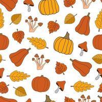colheita de outono vetor padrão sem emenda em fundo branco