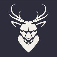 Ícone de vetor de mascote de veado