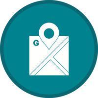Google Maps glyph round circle vetor