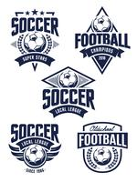 Emblemas de futebol de vetor