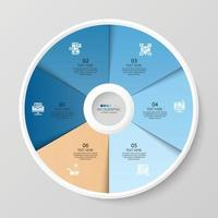 Infográfico de 6 etapas vetor