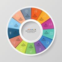 Infográfico de 13 etapas vetor