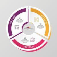 Infográfico de 3 etapas vetor