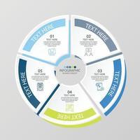 Infográfico de 5 etapas vetor