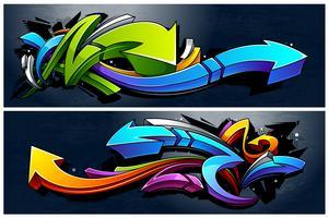 Banners de flechas de grafite