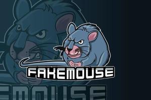 modelo de logotipo do time de e-sports mouse vetor