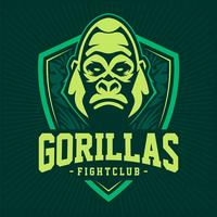 gorilla mascot emblem design vetor