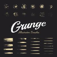 Conjunto de pincéis de grunge