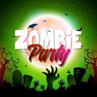 Ilustração de Halloween Zombie Party