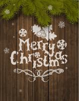 Cartão de saudação de Natal de vetor. vetor