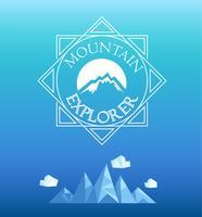 Emblema da montanha. Vetor.