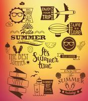 Elementos de design de férias de verão.