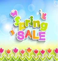 Rótulo de venda de primavera.