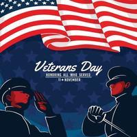 dia dos veteranos homenagear todos os que serviram vetor