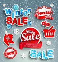 Fundo de venda de inverno. vetor