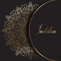 Convite de design decorativo Mandala vetor