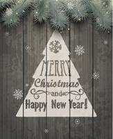 Cartão de Natal. Ilustrações vetoriais. vetor