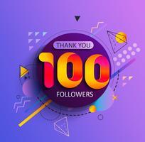 Obrigado primeiro 100 seguidores. vetor