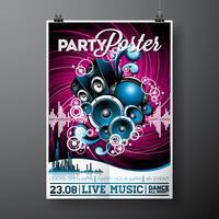 Design de panfleto de festa