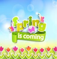 Primavera - cartão de saudação.