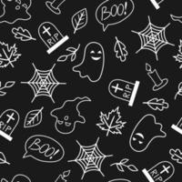 padrão sem emenda com elementos de halloween. fundo do dia das bruxas. vetor