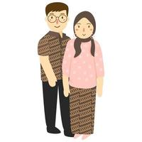 retrato de jovem casal vetor