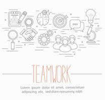 símbolos de trabalho em equipe de negócios
