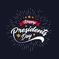 Feliz presidentes dia Banner fundo e cartões. Ilustração vetorial vetor