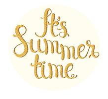É hora de verão.